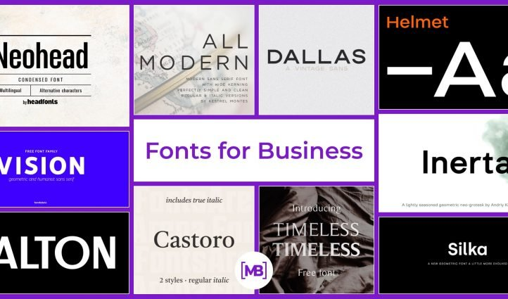 Business Fonts Example.