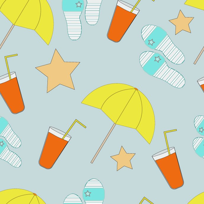 Seamless Summer Pattern cover image.