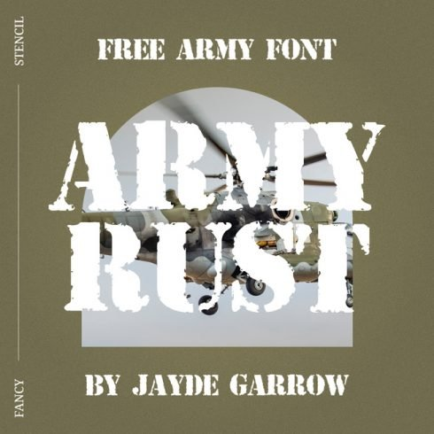 01 Army Rust free army font main cover.