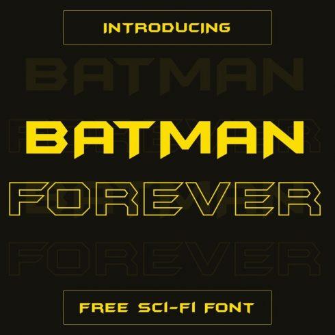 01 Batman Forever Free batman font main cover.