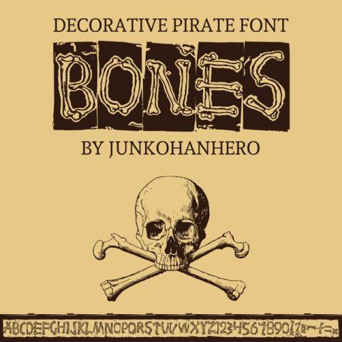 01 Bones Free pirate font main cover.