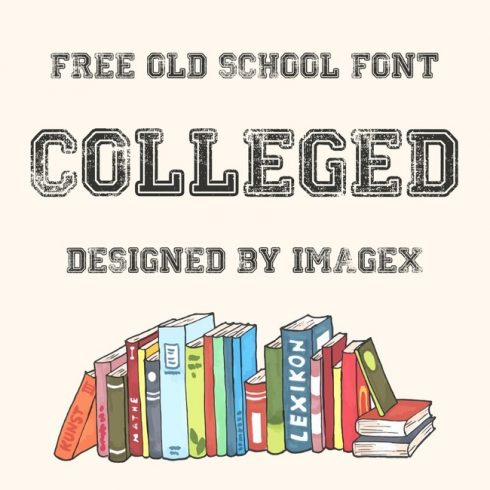 01 Colleged Free college font main cover.