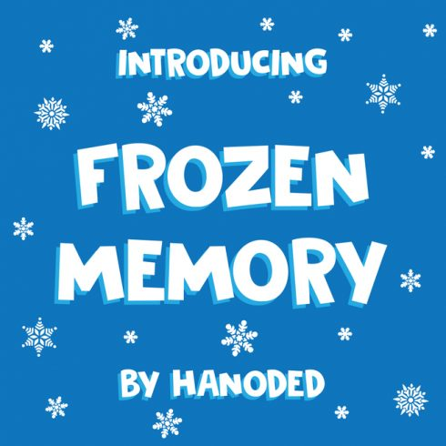 01 DK Frozen Memory Free frozen font main cover.