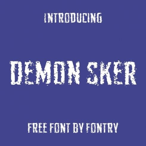 01 FRee demon font main cover.