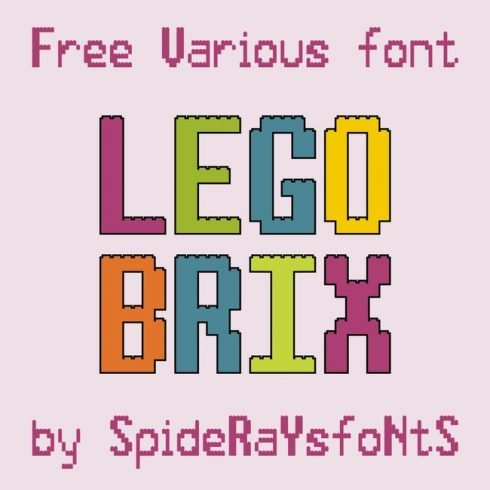 01 FRee lego font main cover.