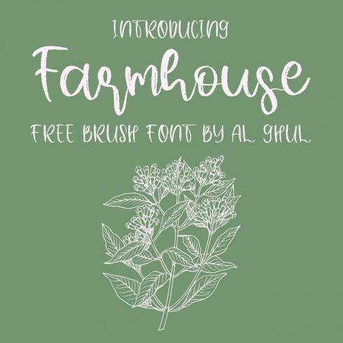 01 Free Farmhouse Font main cover.