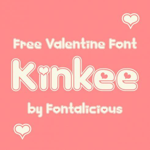 01 Free Kinkee heart font main cover.