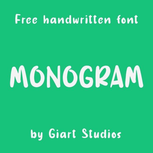 01 Free Monogram font main cover.