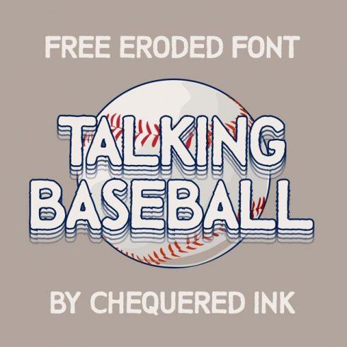 01 Free Talking Baseball Font main cover.