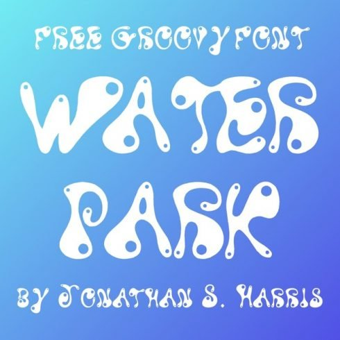 01 Free Water Park Font main cover.