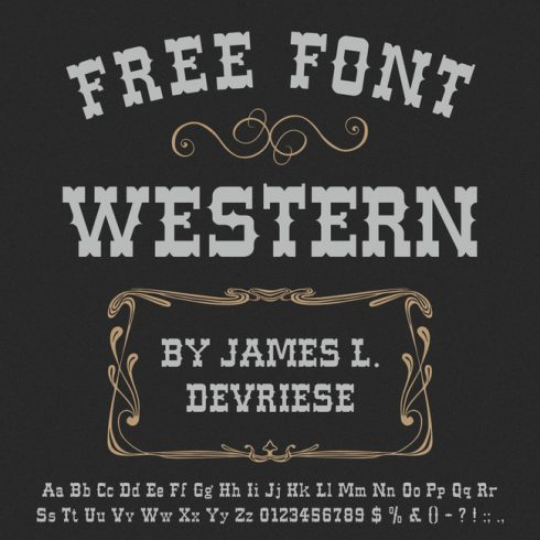 01 Free Western Font main cover.