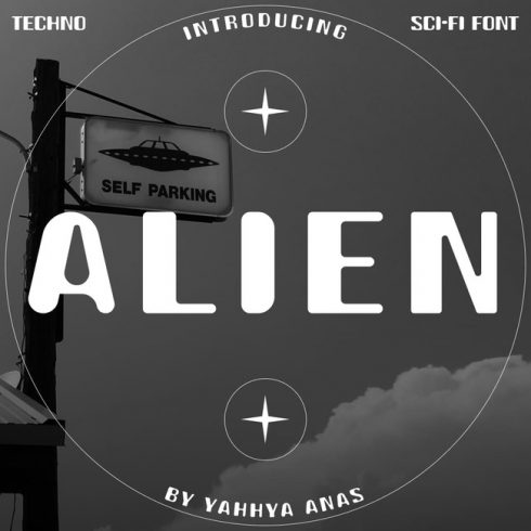 01 Free alien font main cover.
