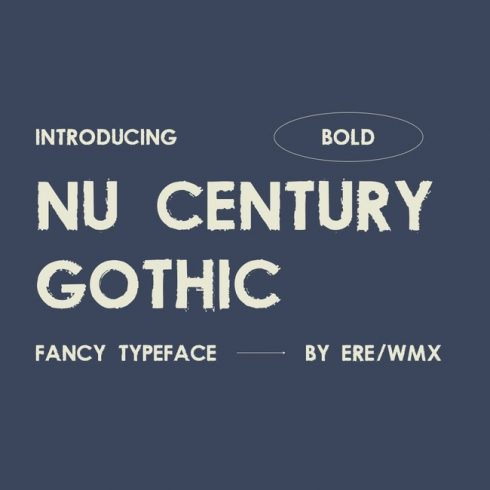 01 Free century gothic font main cover.