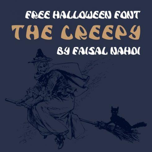 01 Free creepy font main cover.