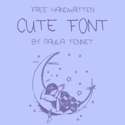 01 Free cute font main cover.