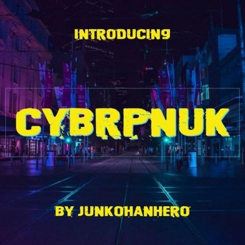01 Free cyberpunk font main cover.