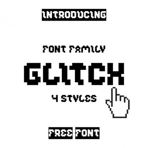 01 Free glitch font main cover.
