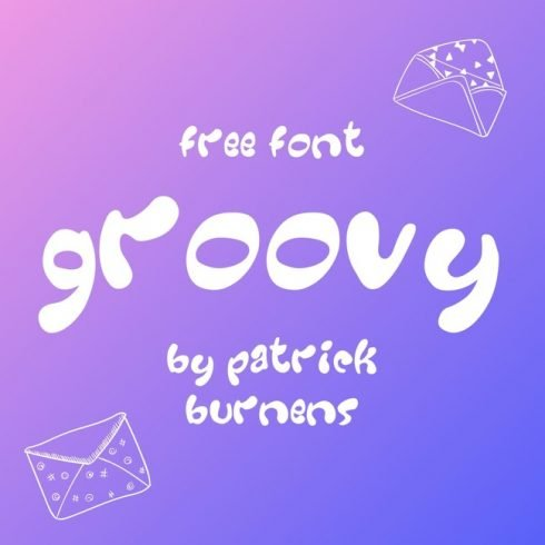 01 Free groovy font main cover.