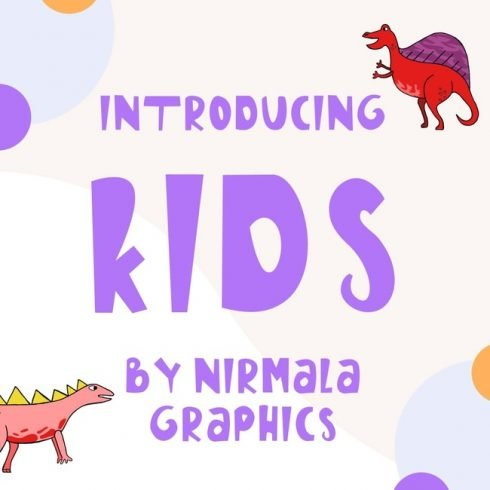 01 Free kids font main cover.