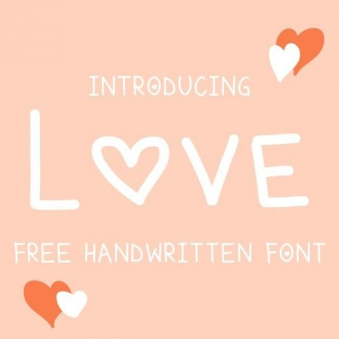 01 Free love font main cover.