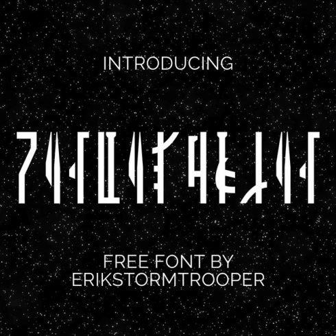01 Free mandalorian font main cover.