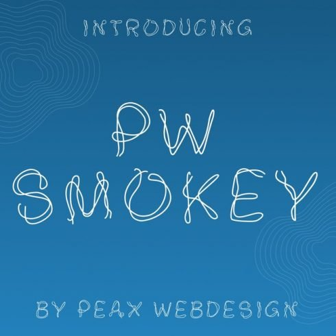 01 Free smoke font main cover.