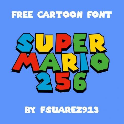 01 Free super mario font main cover.