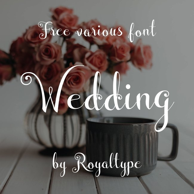 01 Free wedding font main cover.