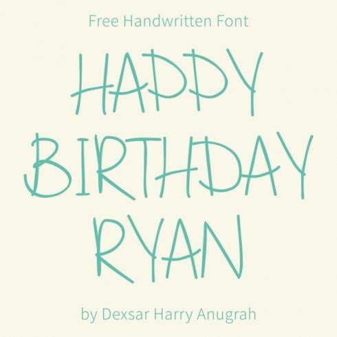 01 Happy Birthday Ryan Free happy birthday font main cover.