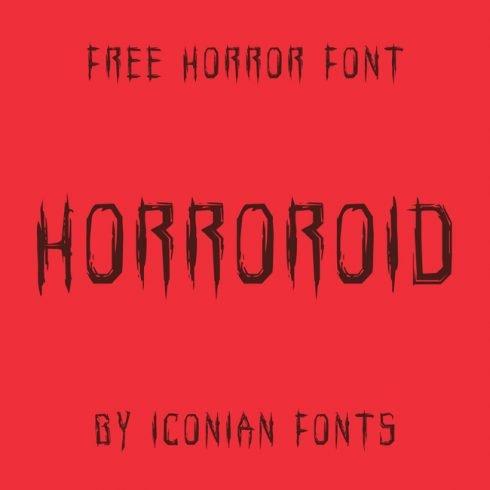 01 Horroroid free horror font cover image.