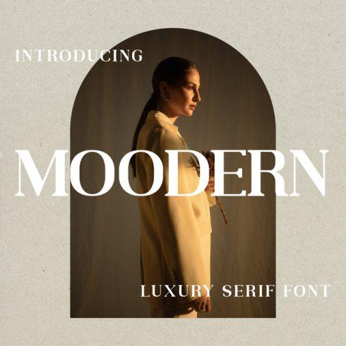 01 Moodern Free modern font main cover.