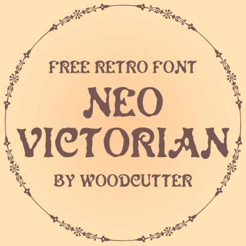 01 Neo Victorian free victorian font main cover.