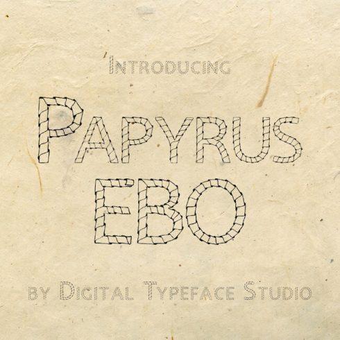 01 Papyrus EBO Free Font 1100x1100 2