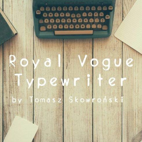 01 Royal Vogue Typewriter Free vogue font main cover.