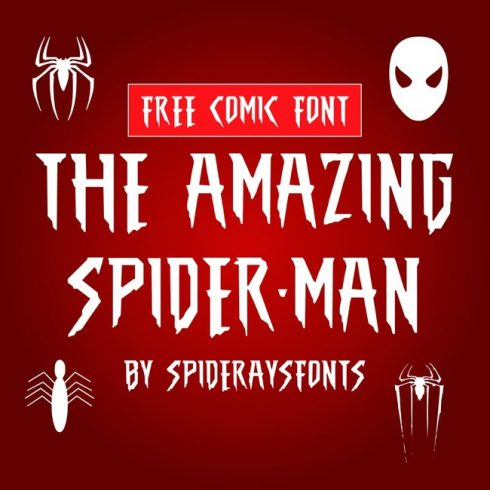 01 The Amazing Spider Man Free spiderman font main cover.