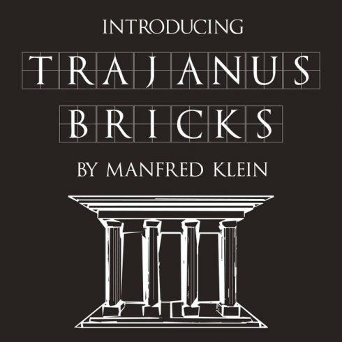 01 Trajanus Bricks Free trajan font main cover.