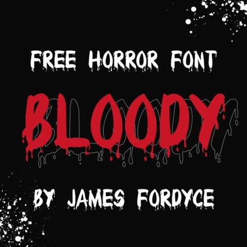 01 free blood font main cover.