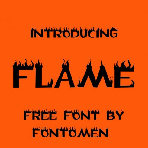 01 free flame font main cover.