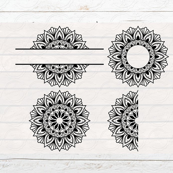 Mandala Monogram Design Bundle of patterns.