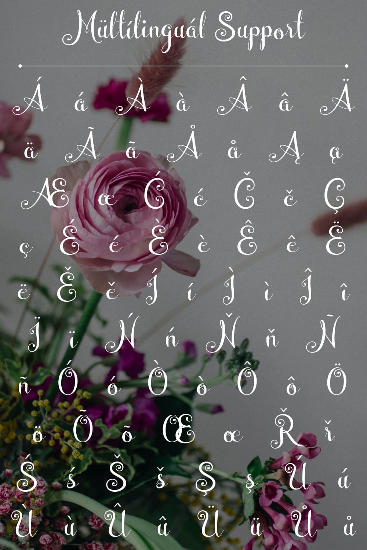 Multilingual font.