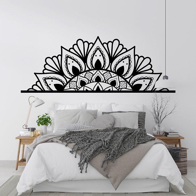 Mandala Monogram Design on the bedroom decor.