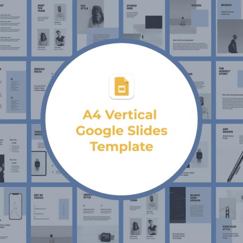 1 A4 Vertical Google Slides Template main cover.