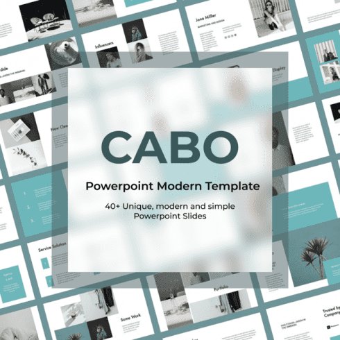 CABO Powerpoint Modern Template main cover.
