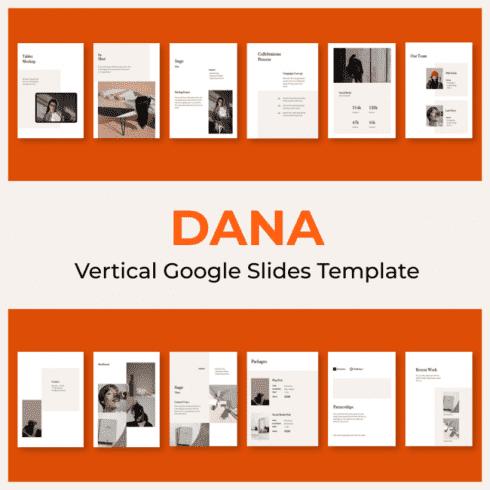 DANA Vertical Google Slides Template main cover.