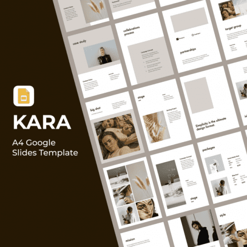 KARA A4 Google Slides Template main cover.