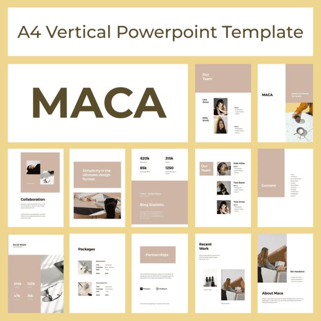 MACA A4 Vertical Powerpoint TemplateMACA A4 Vertical Powerpoint Template main cover.
