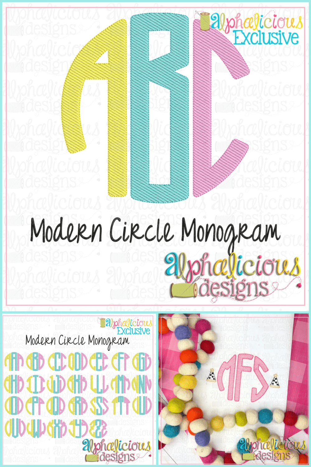 Modern cute font in pink color.