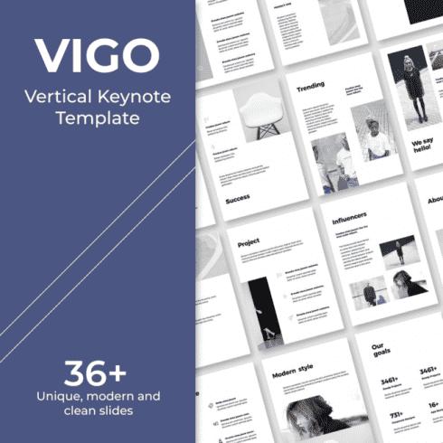 VIGO Vertical Keynote Template main cover.
