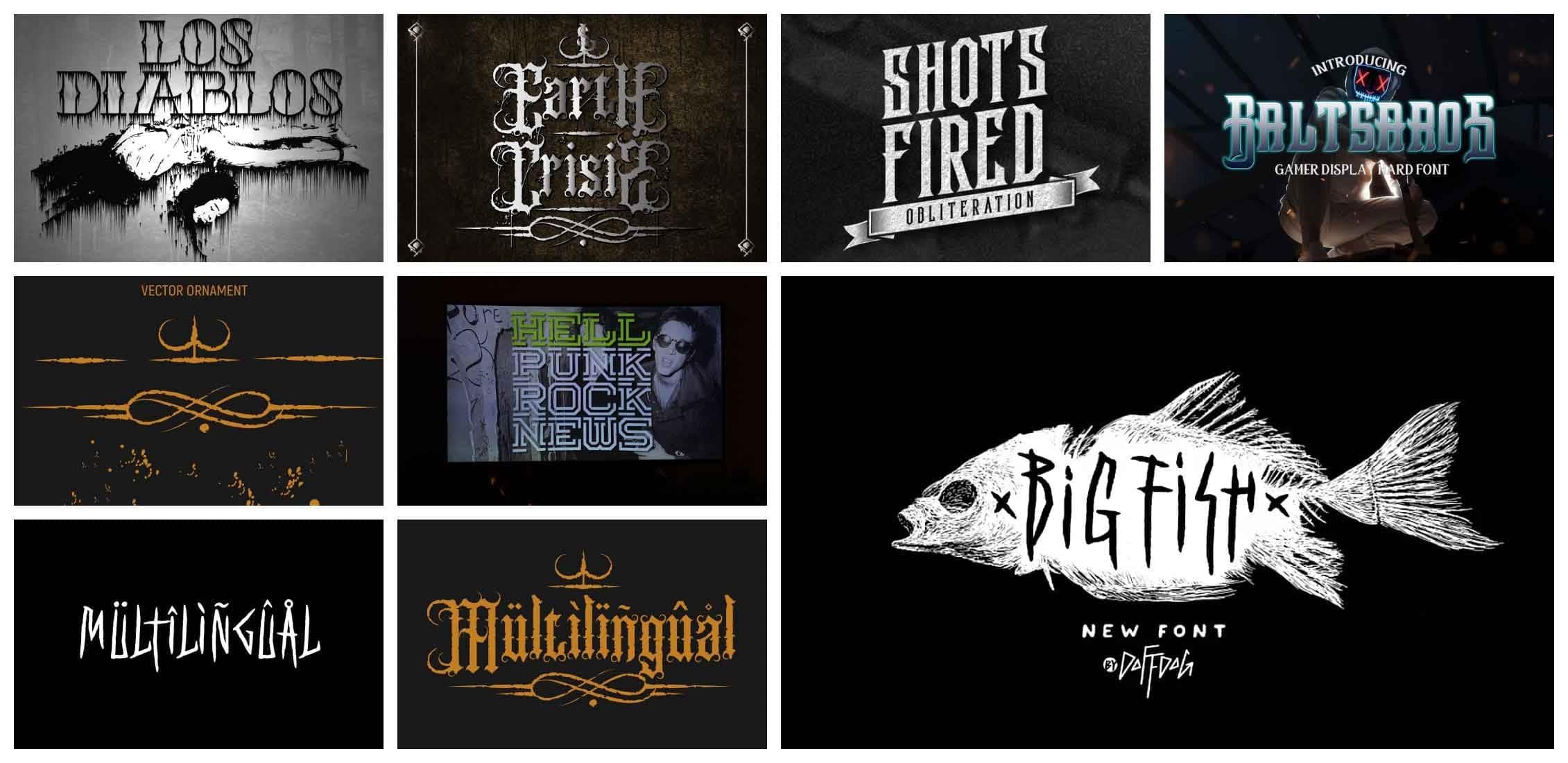 10 Best Black Metal Fonts in 2021 Example.