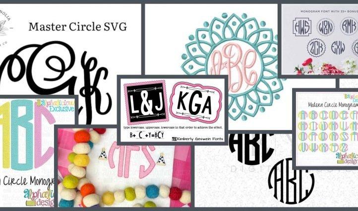 10 Best Circle Monogram Fonts Example.